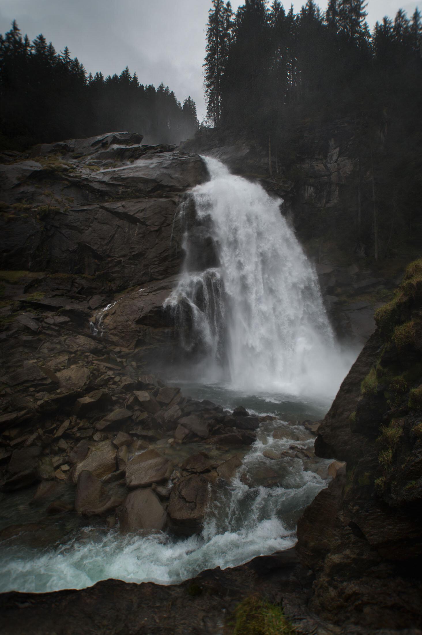 Waterfall of Krimml (bottom part)